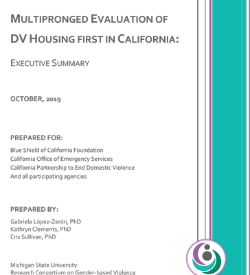 Multipronged Evaluation of DV Housing First in California
