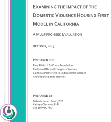 Multipronged Evaluation of DV Housing First in California - Full Report