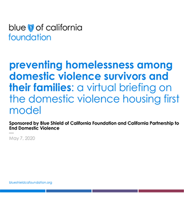 preventing homelessness among domestic violence survivors and their families: a virtual briefing on the domestic violence housing first model