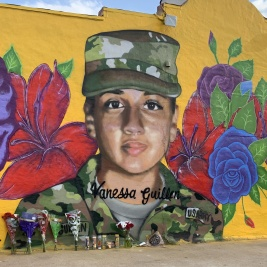 A mural of Vanessa Guillen in Fort Hood, Texas