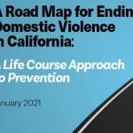 Text image: a road map for ending domestic violence in California