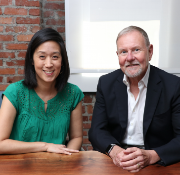 Carolyn Wang Kong and Ray Baxter