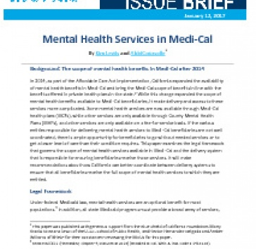 Publication Mental Health Services In Medi Cal Blue Shield Of