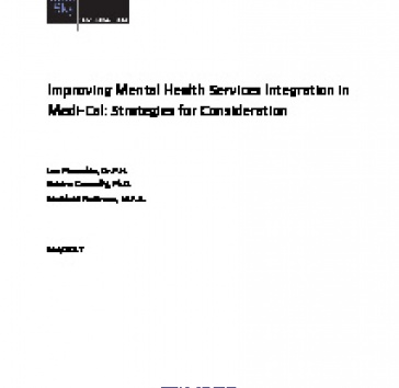 Publication Improving Mental Health Services Integration In Medi